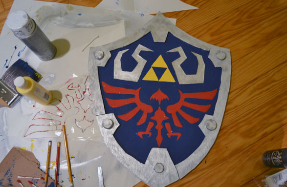How A Cosplay N00b Made A Hylian Shield A Photo Tutorial I Think In Comics