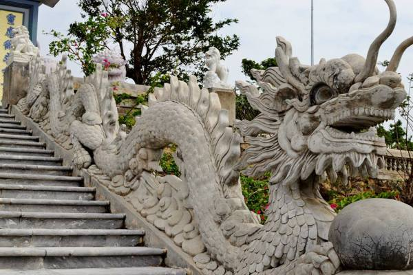Elaborate dragon railing!