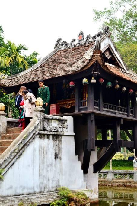 Chùa Một Cột, or the One Pillar Pagoda, in Hanoi.