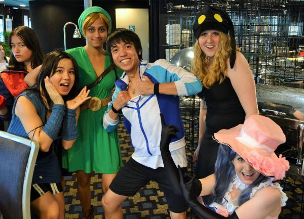 My friends and I with Haruka Nanase from Free!