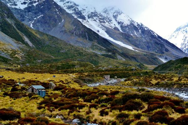 Along the Hooker Valley Track, New Zealand.