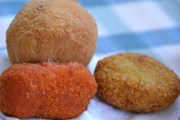 Italian fried cheese and fried meat!
